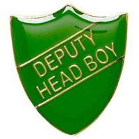ShieldBadge Deputy Head Boy Green</br>SB020G
